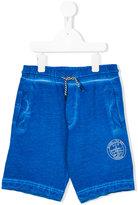 Diesel bleached seam shorts - kids - Cotton - 8 yrs