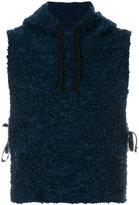 Engineered Garments sleeveless textured hoodie