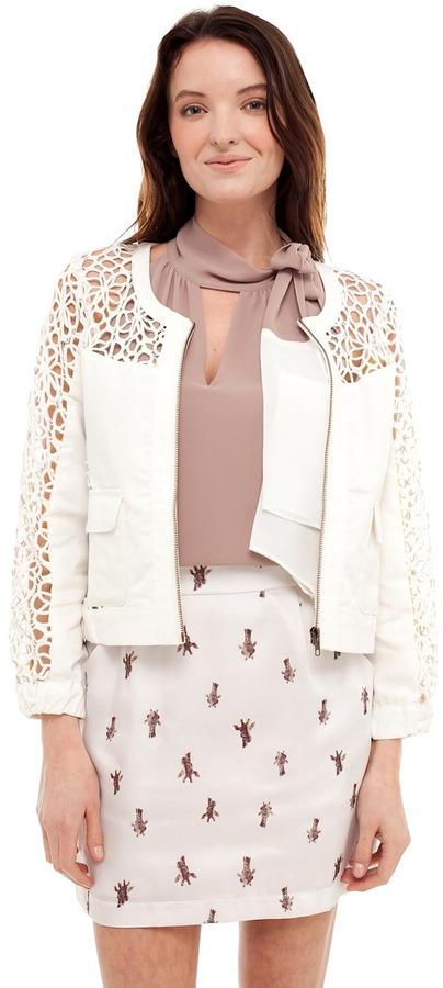 Esley Lace Moto Jacket
