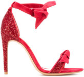 Alexandre Birman bow-detail sandals - women - Leather/Velvet - 36
