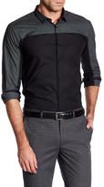 HUGO BOSS Erhart Contrast Checkered Slim Fit Shirt