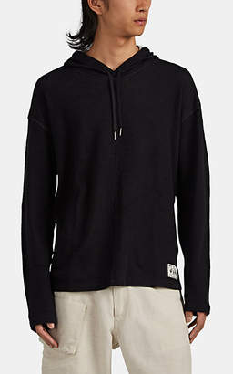 John Varvatos Men's Elkhart Oversized Slub Cotton Hoodie - Black