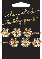 Kitsch Bird and Floral Pearl Charm Bobby Pins