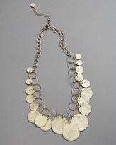 Aztec Gold Disc Necklace