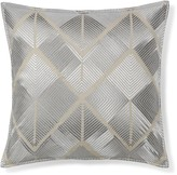 Williams-Sonoma Williams Sonoma All Over Embroidered Diamond Pillow Cover, Silver