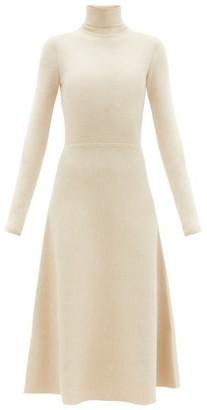 Gabriela Hearst Betti Roll-neck Cashmere-blend Knitted Dress - Light Beige