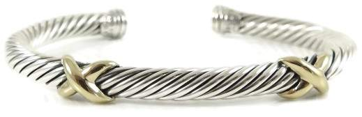 David Yurman 925 Sterling Silver & 14K Yellow Gold XX Bracelet