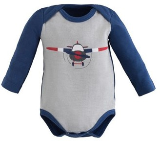 Under the Nile Long Sleeve Lap Shoulder Bodysuit - Navy - 3-6M