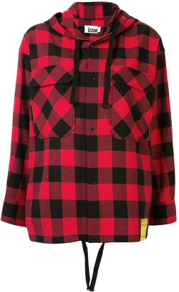 Izzue Hooded Check Shirt