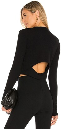 LnA Brushed Pose Back Cut Out Top