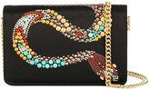 Roberto Cavalli embellished snake bag - women - Brass/Silk Satin - One Size