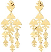 Tory Burch Metal Fish Chandelier Earrings Earring