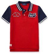 Ralph Lauren Mesh Athletic Patches Polo, Size 5-7