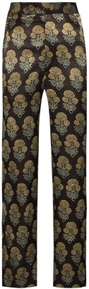 Bode Floral Pattern Jacquard Trousers