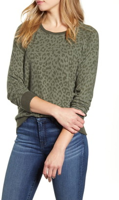 Lucky Brand Cheetah Print Sweatshirt