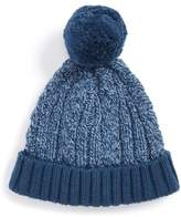 Tucker + Tate Toddler Girl's Cable Knit Pompom Hat - Blue
