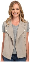Dylan by True Grit Effortless Stretch Cotton Zip Vest