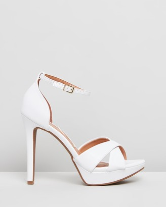 Vizzano - Women's White Strappy sandals - Leena Heels - Size One Size, 9 at The Iconic