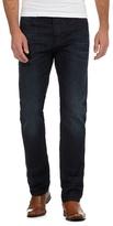 J By Jasper Conran Dark Blue Whisker Effect Straight Leg Jeans
