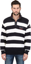 Paul & Shark Zipped Striped Wool Sweater