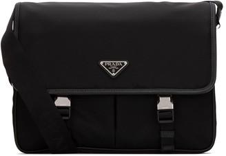 Prada Logo Buckled Crossbody Bag