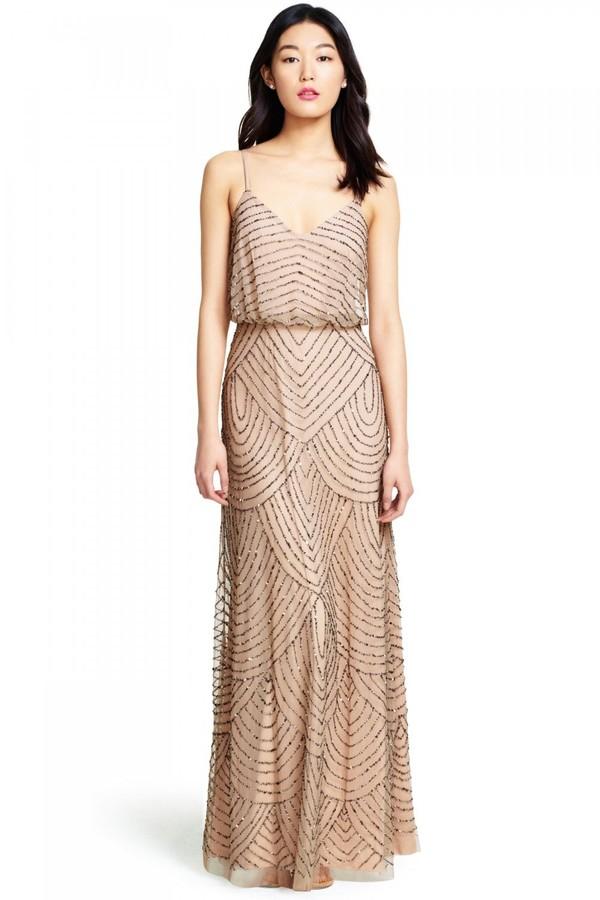 Adrianna Papell Long Blouson Dress
