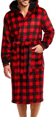 Buffalo David Bitton Jammin Jammies Men's Faux Shearling-Lined Plaid Robe