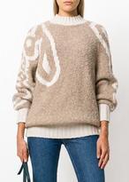 See by Chloe Logo Sweater Dark Ivory