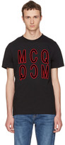 McQ by Alexander McQueen Black Debossed Logo T-Shirt