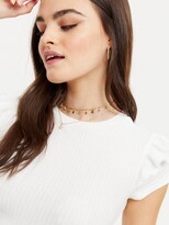 Thumbnail for your product : New Look Frill Sleeve Tshirt