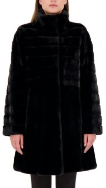 Jones New York Petite Faux-Fur Coat