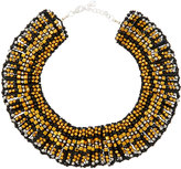 Nakamol Beaded Statement Collar Necklace, Black/Gold