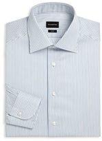 Ermenegildo Zegna Stripe Regular Fit Dress Shirt