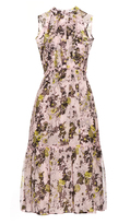 Erdem Yasmini high-neck silk-voile dress