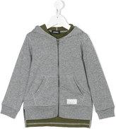 Diesel layered hooded sweatshirt