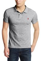 U.S. Polo Assn. Men's Slim-Fit Cotton Slub Polo Shirt