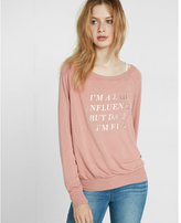 Express one eleven i'm a bad influence graphic sweatshirt