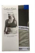 Calvin Klein Women's Cotton Bralette Pack of 2 (Black & Grey)