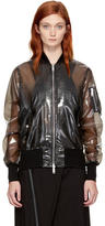 Unravel Black PVC Bomber Jacket