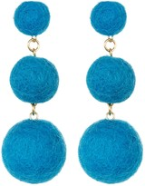 Yochi Line up your Pom Poms Earings