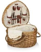 Picnic Time Heart Shaped Wicker Picnic Basket