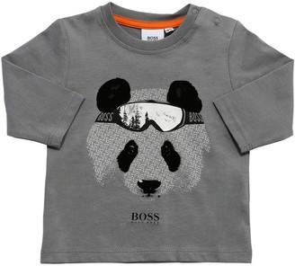 HUGO BOSS Bear Print Cotton Jersey T-Shirt