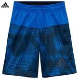 adidas Blue Camo Printed Shorts