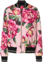Dolce & Gabbana rose print bomber jacket