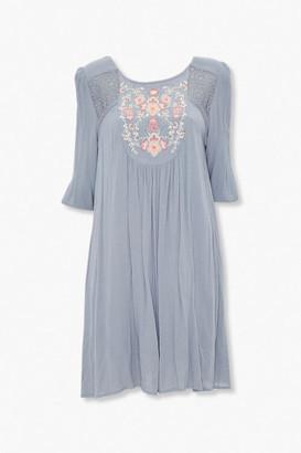 Forever 21 Embroidered Floral Dress