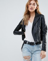 Muu Baa Muubaa Pocketed Biker Jacket