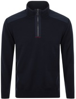 Paul & Shark Paul And Shark Half Zip High Collar Jumper Navy