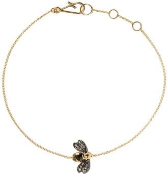 Annoushka 18kt yellow gold Love Diamonds bee diamond bracelet