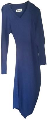 Maison Margiela Blue Wool Dress for Women