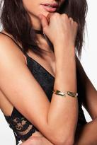 Boohoo Lucia Leaf Detail Arm Cuff Bracelet